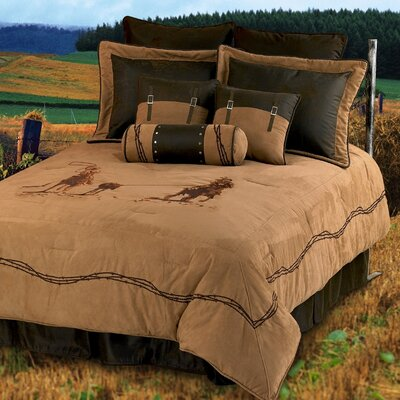 Team Roping Comforter Set Size: Super King