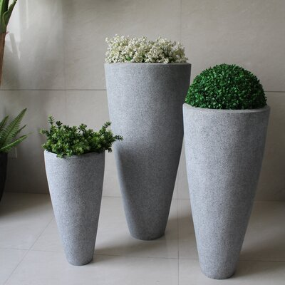 3-Piece Stone Pot Planter Set SGS4007