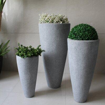 3 Piece Stone Pot Planter Set SGS4007