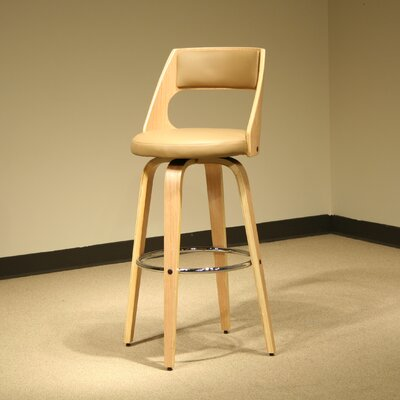 Swivel Bar Stool with Cushion (Set of 2) Seat Height: 30