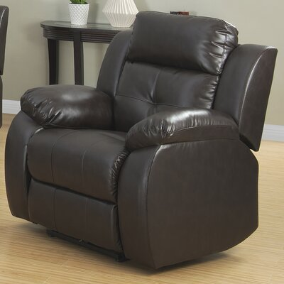 Troy Leather Recliner Type: Power