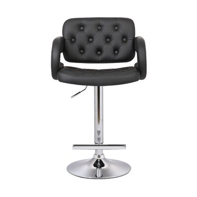 Adjustable Height Swivel Arm Bar Stool