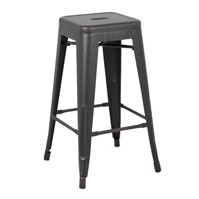 29 Bar Stool Upholstery: Black