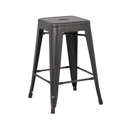 24 Bar Stool Upholstery: Black