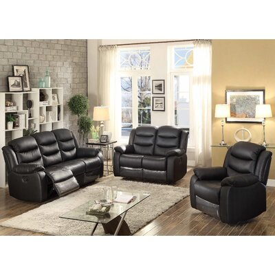 Bennett 3 Piece Leather Living Room Set