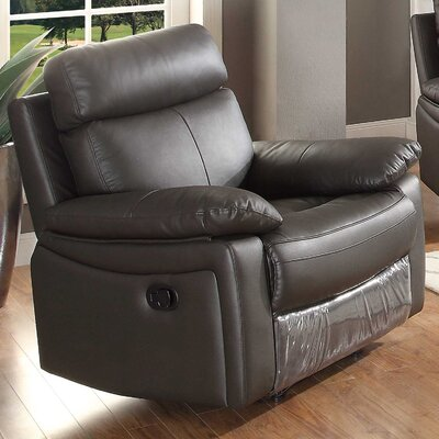 Ryker Recliner Upholstery: Brown