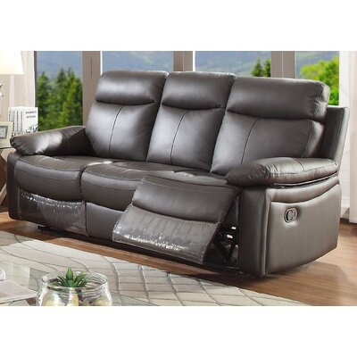Ryker Reclining Sofa Upholstery: Brown