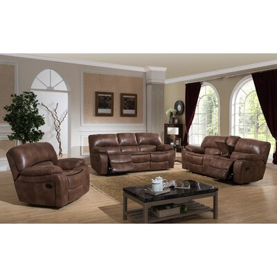 Leighton 3 Piece Reclining Living Room Set