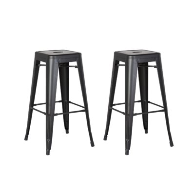 Judith 24 Metal Bar Stool Upholstery: Matte Black