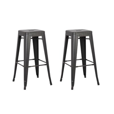 Judith 24 Metal Bar Stool Upholstery: Sand Matte Black