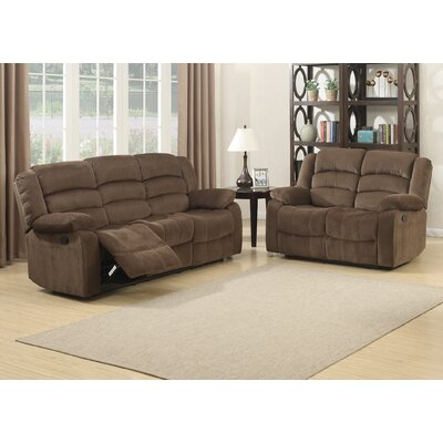Bill Reclining Living Room Sofa and Loveseat Set