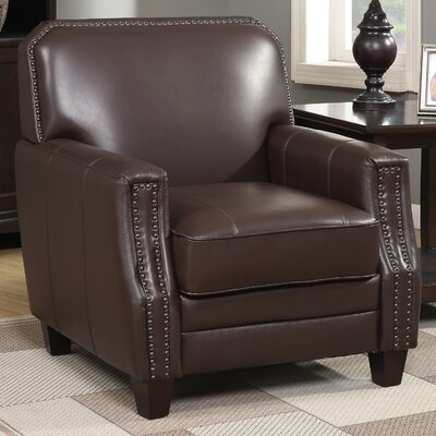 Calanthe Club Chair Upholstery: Brown