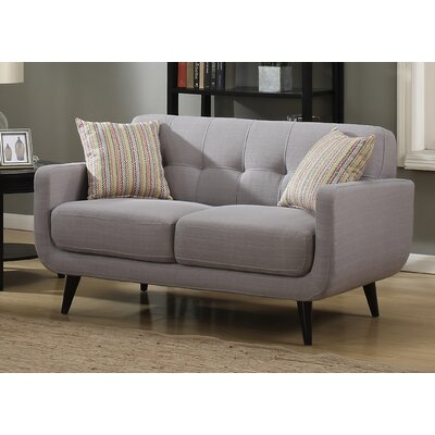 Crystal Mid-Century Loveseat Finish: Gray