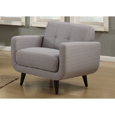 Crystal Mid-Century Armchair Color: Gray