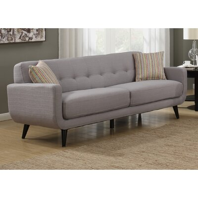 Crystal Mid-Century Sofa Finish: Gray