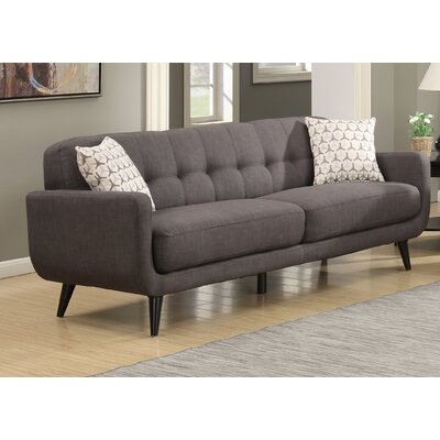 Crystal Mid-Century Sofa Finish: Charcoal