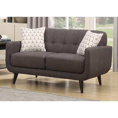 Crystal Mid-Century Loveseat Finish: Charcoal