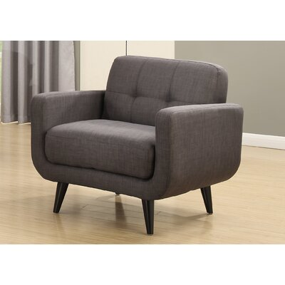 Crystal Mid-Century Armchair Color: Charcoal