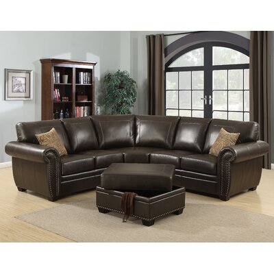 LOUIS-BRN-3PC-SECTIONAL-OTT AC Pacific Sectionals