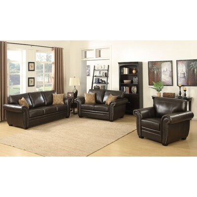 Louis 3 Piece Stationary Living Room Set
