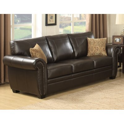 Louis Stationary Leather Sofa