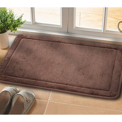 Christies Non-Slip Luxurious Memory Foam Bath Mat Color: Brown