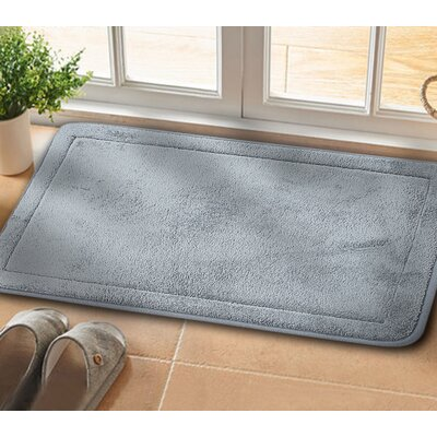 Christies Non-Slip Luxurious Memory Foam Bath Mat Color: Gray