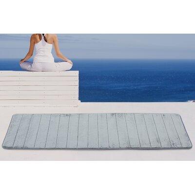 Christies Non-Slip Luxurious Memory Foam Bath Mat Color: Gray