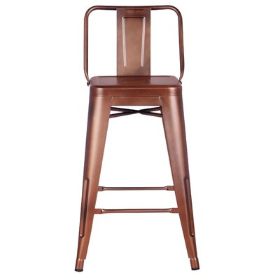 24 Bar Stool Finish: Rose Gold