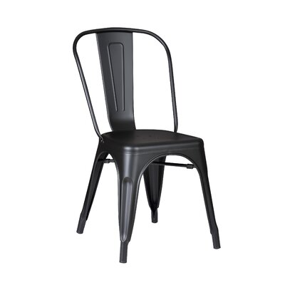Armless Stackable Bistro Side Chair Finish: Matte Black