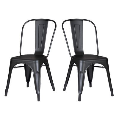 Norman Side Chair Finish: Matte Black