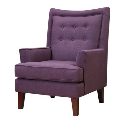 Bella Mid-Century Inspired Fabric Arm Chair