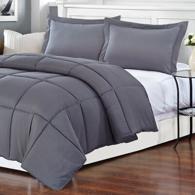 Polyester Medium Warmth Down Alternative Comforter Duvet Insert Size: King
