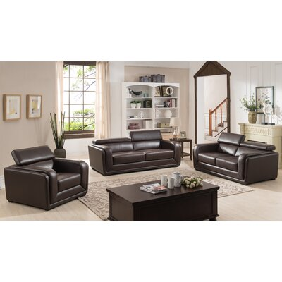 Calvin 3 Piece Living Room Set