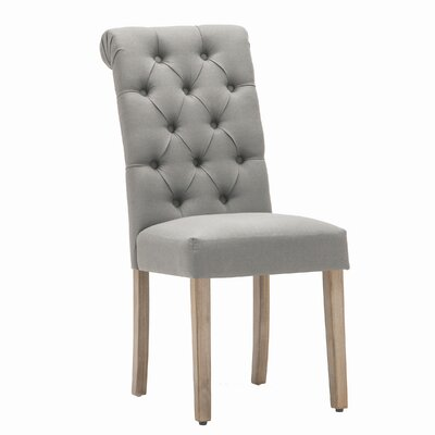 Christies Roll Top Tufted Modern Side Chair