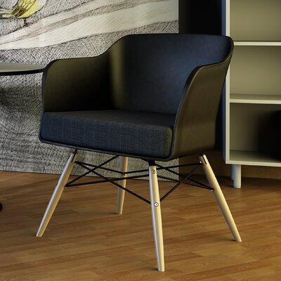 Briella Arm Chair Finish: Black