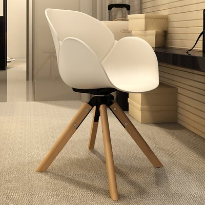 Jasmine Swivel Armchair Finish: White