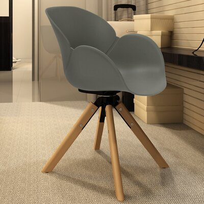 Jasmine Swivel Armchair Finish: Gray