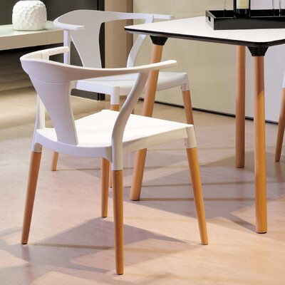 Makenna Arm Chair Finish: White