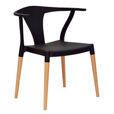 Makenna Solid Wood Dining Chair Finish: Black