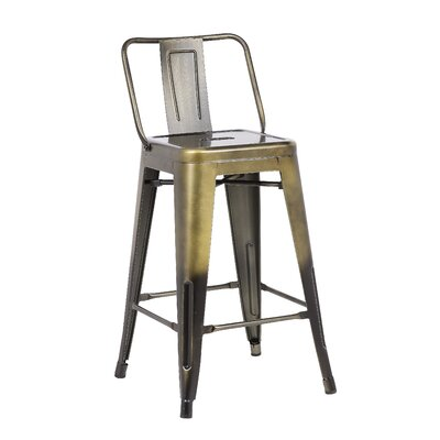 24 Bar Stool Finish: Brass Gold