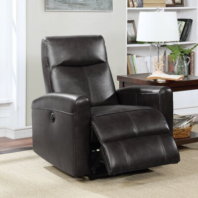 Claredon Living Room Electric Power Wall Hugger Recliner Upholstery: Black