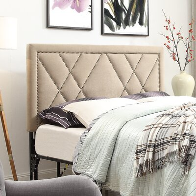 Honore Nailhead Upholstered Headboard Size: Queen