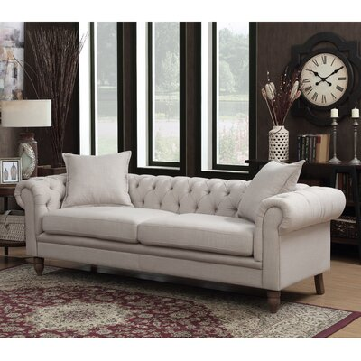 Juliet Chesterfield Sofa Upholstery: Beige