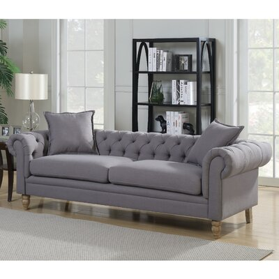Juliet Chesterfield Sofa Upholstery: Grey