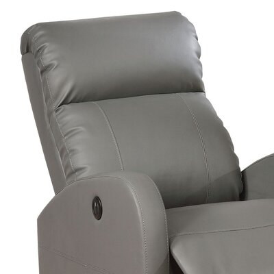 Sean Leather Recliner Orientation: Grey