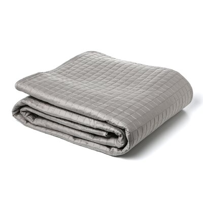 Urban Egyptian Quality Cotton Quilted Coverlet Size: Queen, Color: Grey