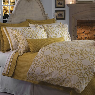 Frecia Scroll Duvet Cover Size: Super Queen