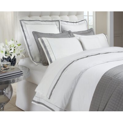 Urban Egyptian Quality Cotton Quilted Coverlet Color: White, Size: King