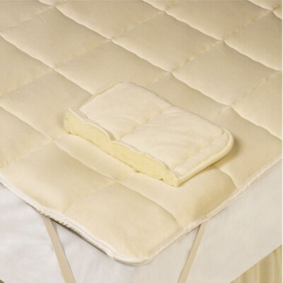 Down Wool Filled Mattress Pad Size: King
